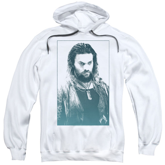 Aquaman Movie Hoodie Jason Momoa Stare White Hoody