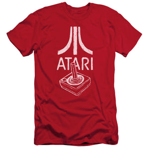 Atari Slim Fit T-Shirt Joystick Controller Logo Red Tee