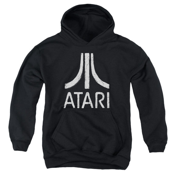 Atari Kids Hoodie Distressed White Logo Black Hoody