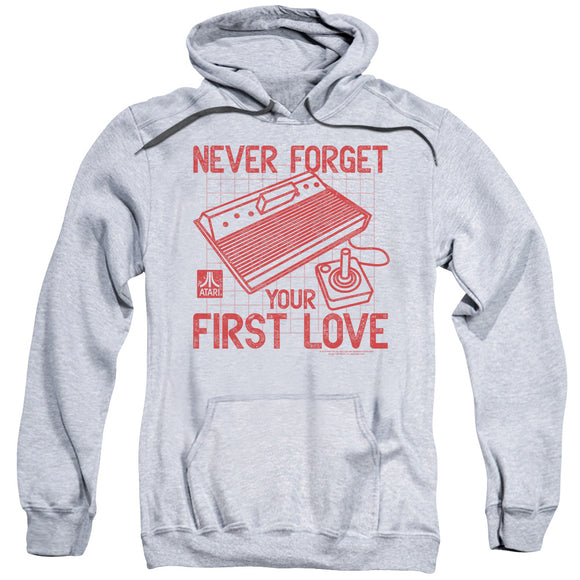 Atari Hoodie Never Forget Your First Love Heather Hoody