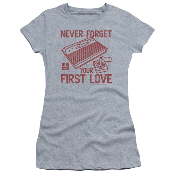 Atari Juniors T-Shirt Never Forget Your First Love Heather Tee