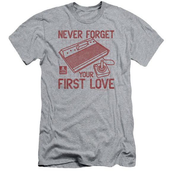 Atari Slim Fit T-Shirt Never Forget Your First Love Heather Tee