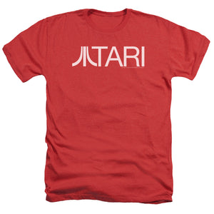 Atari Heather T-Shirt Text Logo Red Tee