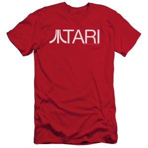 Atari Slim Fit T-Shirt Text Logo Red Tee