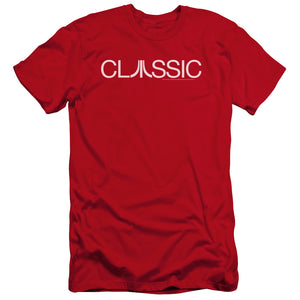 Atari Premium Canvas T-Shirt Classic Logo Red Tee