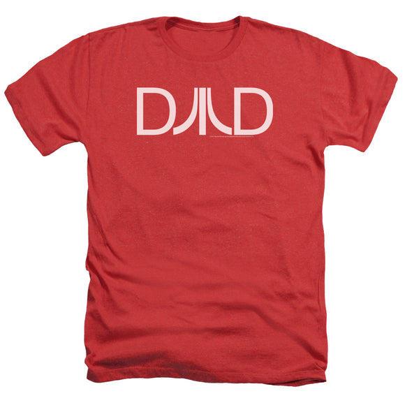 Atari Heather T-Shirt Dad Logo Red Tee