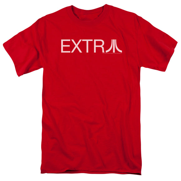 Atari Mens T-Shirt Extra Logo Red Tee