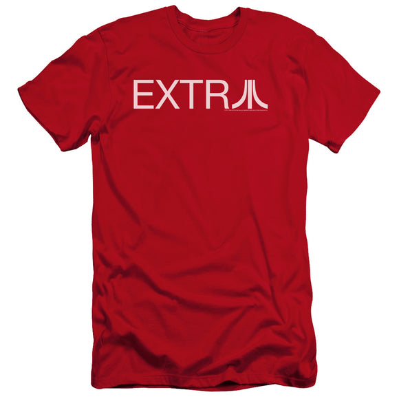 Atari Premium Canvas T-Shirt Extra Logo Red Tee
