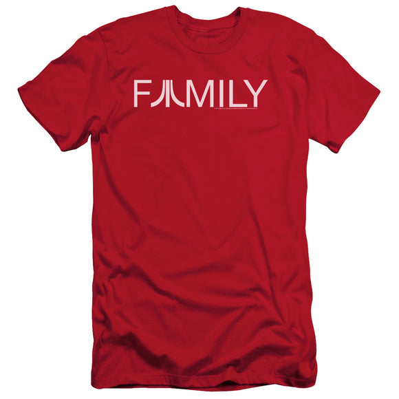 Atari Slim Fit T-Shirt Family Logo Red Tee
