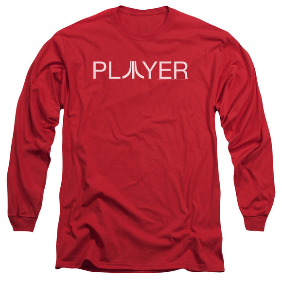 Atari Long Sleeve T-Shirt Player Logo Red Tee