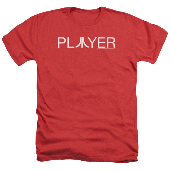 Atari Heather T-Shirt Player Logo Red Tee