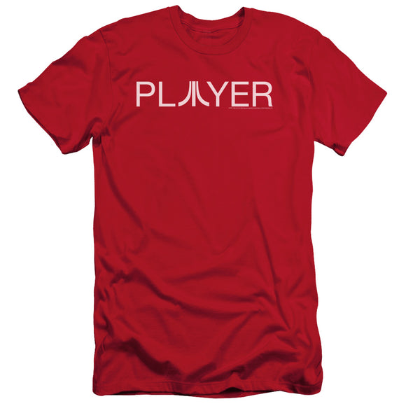 Atari Slim Fit T-Shirt Player Logo Red Tee