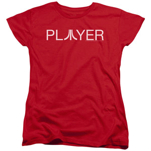 Atari Womens T-Shirt Player Logo Red Tee