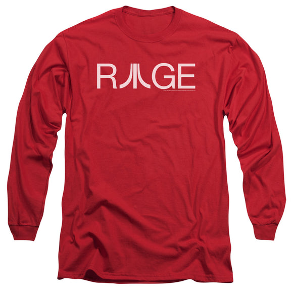 Atari Long Sleeve T-Shirt Rage Logo Red Tee