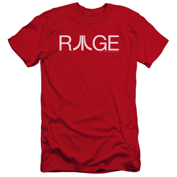 Atari Premium Canvas T-Shirt Rage Logo Red Tee
