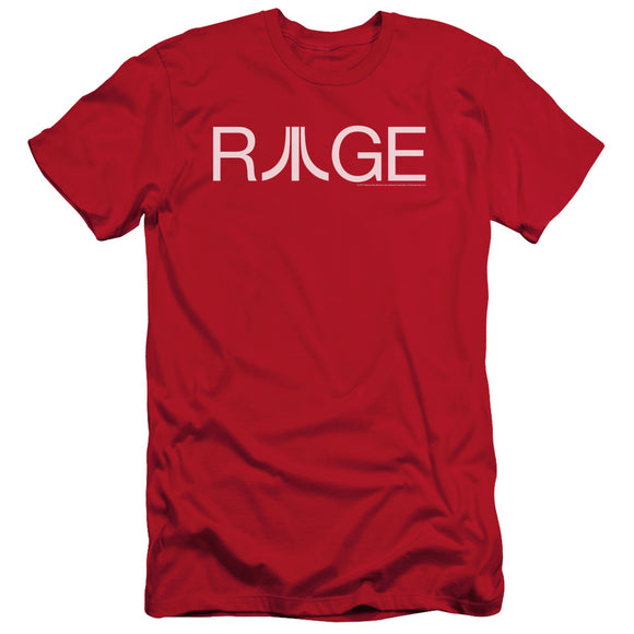 Atari Slim Fit T-Shirt Rage Logo Red Tee