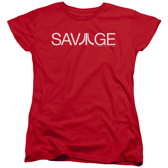 Atari Womens T-Shirt Savage Logo Red Tee