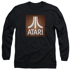 Atari Long Sleeve T-Shirt Classic Wood Square Black Tee