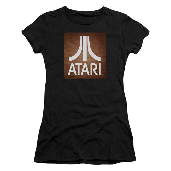 Atari Juniors T-Shirt Classic Wood Square Black Tee