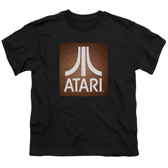 Atari Kids T-Shirt Classic Wood Square Black Tee