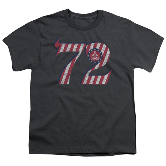 Atari Kids T-Shirt '72 Red White Retro Logo Charcoal Tee