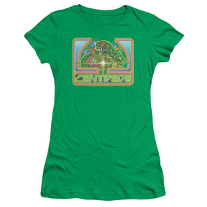 Atari Juniors T-Shirt Centipede Retro Game Kelly Green Tee
