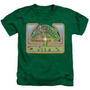 Atari Boys T-Shirt Centipede Retro Game Kelly Green Tee