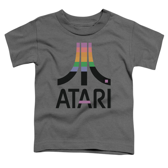 Atari Toddler T-Shirt Retro Colors Logo Charcoal Tee
