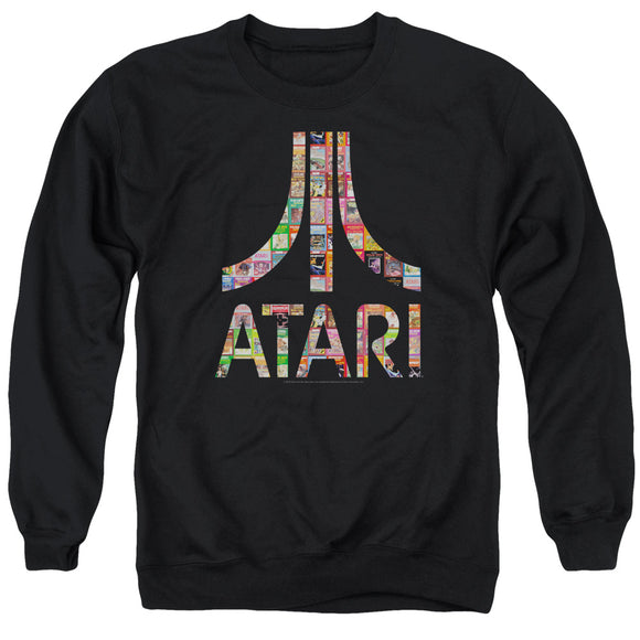 Atari Sweatshirt Game Box Art Logo Black Pullover