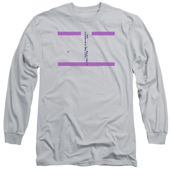 Atari Long Sleeve T-Shirt Easter Egg Code Silver Tee