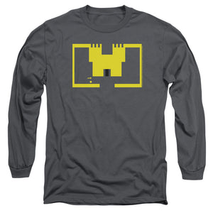 Atari Long Sleeve T-Shirt Adventure Screen Art Charcoal Tee