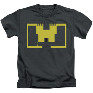 Atari Boys T-Shirt Adventure Screen Art Charcoal Tee