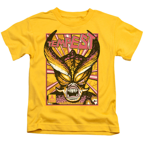 Atari Boys T-Shirt Tempest In The Grasp Yellow Tee