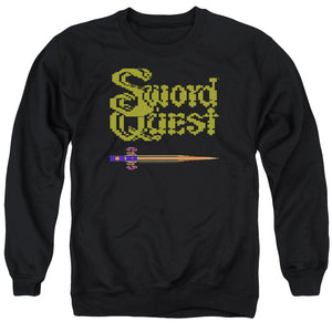 Atari Sweatshirt Swordquest 8 Bit Sword Black Pullover