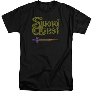Atari Tall T-Shirt Swordquest 8 Bit Sword Black Tee