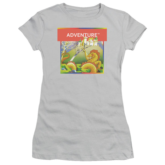 Atari Juniors T-Shirt Adventure Box Art Silver Tee