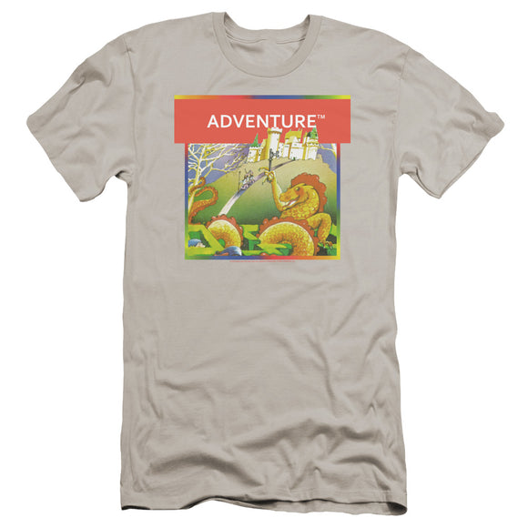 Atari Premium Canvas T-Shirt Adventure Box Art Silver Tee