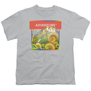 Atari Kids T-Shirt Adventure Box Art Silver Tee