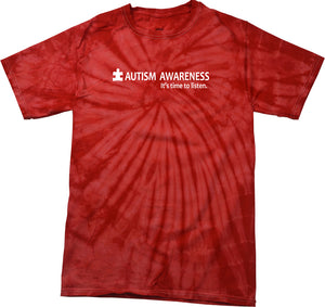 Autism Awareness Time to Listen Spider Tie Dye Shirt