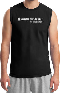 Autism Awareness Time to Listen Muscle Shirt
