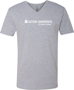 Autism Awareness Time to Listen V-Neck Shirt