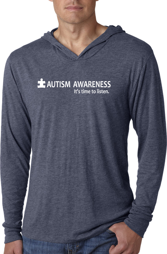 Autism Awareness Time to Listen Lightweight Hoodie