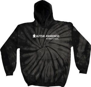 Autism Awareness Time to Listen Tie Dye Hoodie