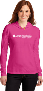 Autism Awareness Time to Listen Ladies Hooded Shirt