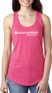 Buy Cool Shirts Autism Awareness Time to Listen Ladies Ideal Tank Top