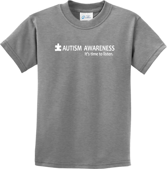 Autism Awareness Time to Listen Youth Kids Shirt