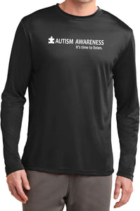 Buy Cool Shirts Autism Awareness Time to Listen Moisture Wicking Long Sleeve