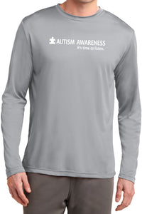 Autism Awareness Time to Listen Moisture Wicking Long Sleeve