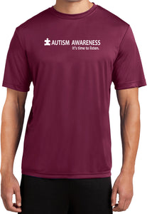 Autism Awareness Time to Listen Moisture Wicking Shirt