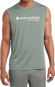 Autism Awareness Time to Listen Dry Wicking Sleeveless Shirt